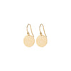 Textured Gold Disc Earrings