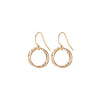Entwined Circle Earrings in Gold