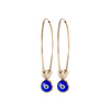 Large Evil Eye Hoop Earrings in Gold