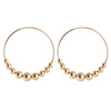 Large Gold Hoops with Beads