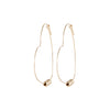 Heart Wire Hoop Earrings in Gold