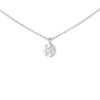 Silver Necklace with Hammered Curved Disc Pendant