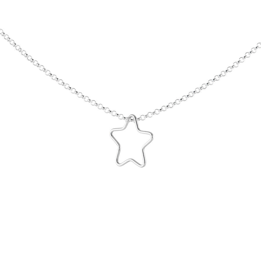 Star Outline Necklace in Silver