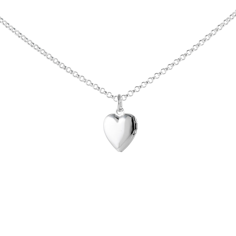 Silver Necklace with Heart Locket