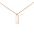 Gold Necklace with Vertical Hammered Bar Pendant