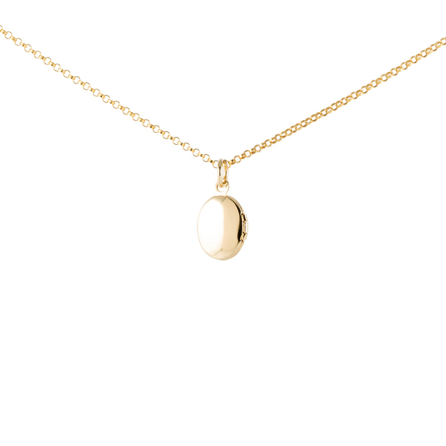 Gold Necklace with Locket Pendant