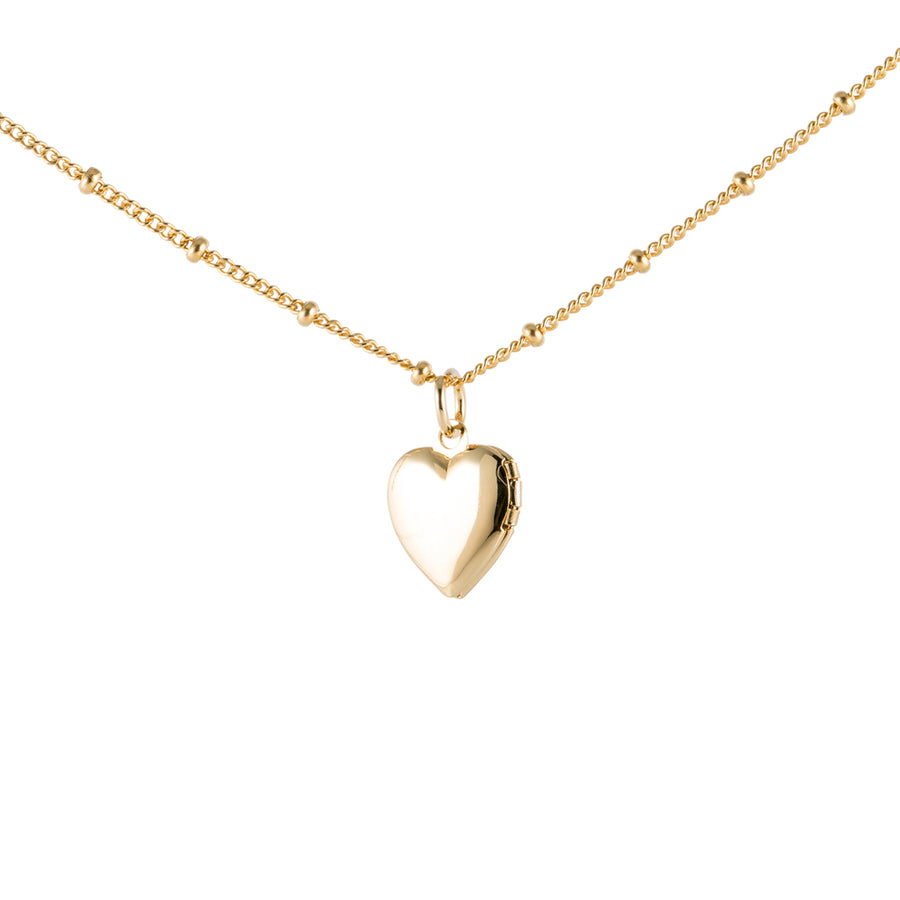 Gold Necklace with Heart Locket