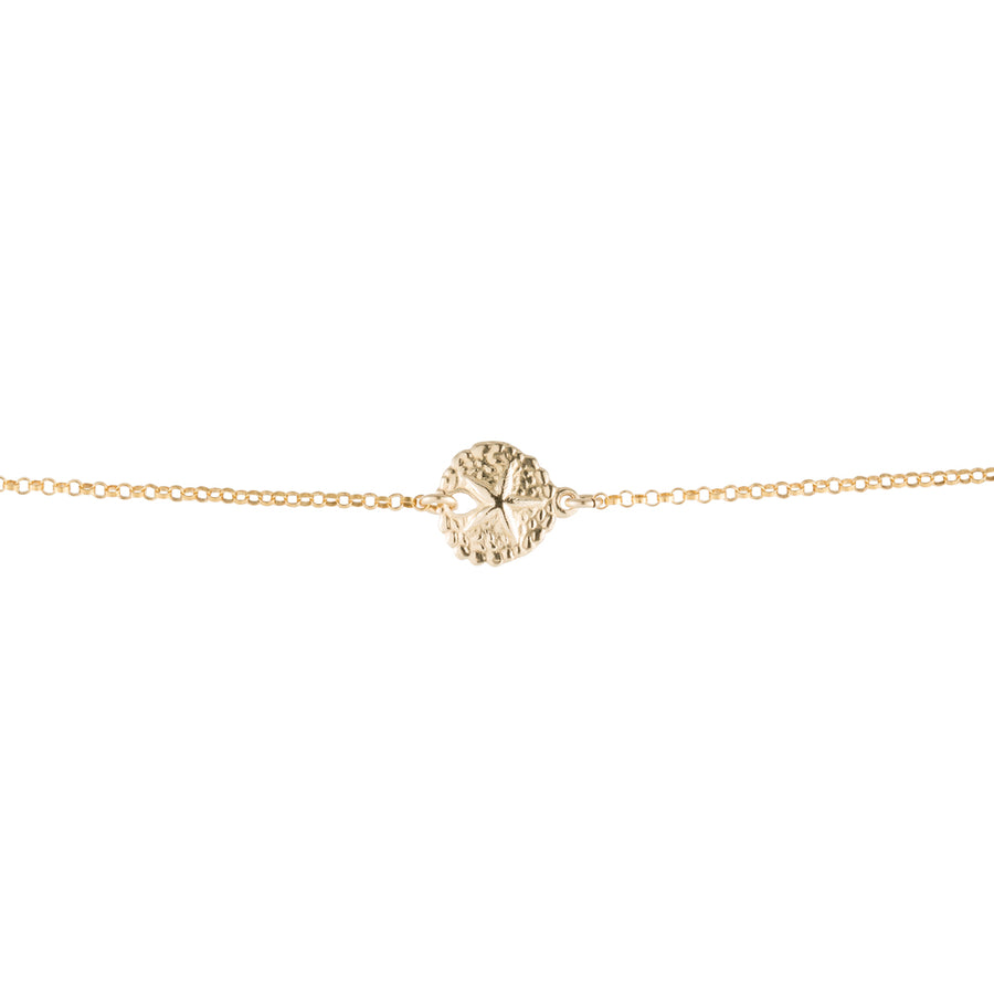Sand dollar Bracelet in Gold