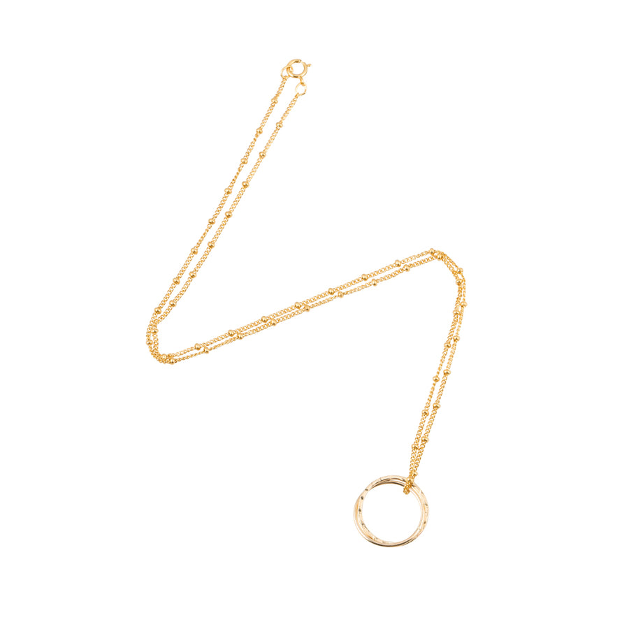 Gold Entwined Circle Necklace