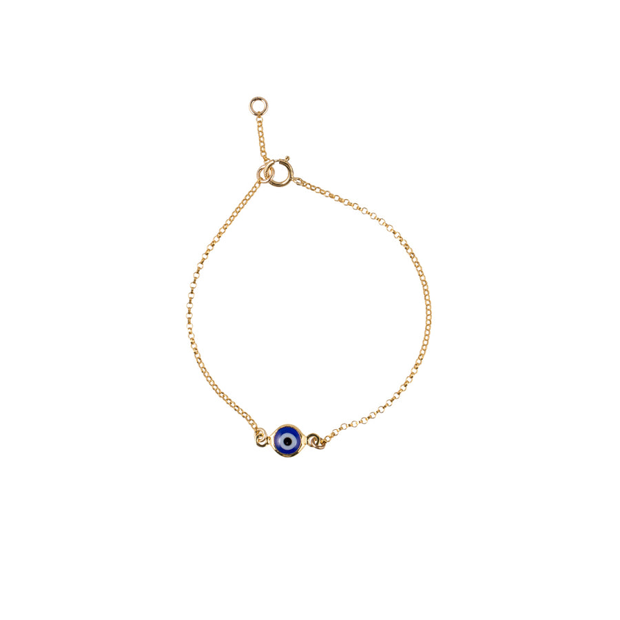 Evile Eye Bracelet in Gold
