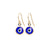 Evil Eye Earrings in Gold