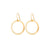 Medium Circle Earrings in Gold
