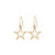 Gold Cut Out Star Earrings