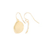 Waved Round Gold Disc Earrings