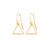 Triangle Outline Earrings in Gold