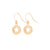 Gold Star Cut Out Earrings