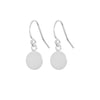 Round Silver Disc Earrings
