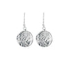 Silver Textured Disc Earrings