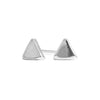 Tiny Triangle Stud Earrings in Silver