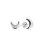Moon Stud Earrings in Silver