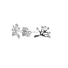 Tree of Life Stud Earrings in Silver