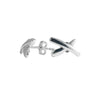 X Marks The Spot Stud Earrings in Silver