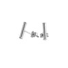Bar Stud Earrings in Silver