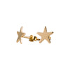 Star Stud Earrings in Gold