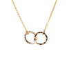 Entwines Circle Necklace in Gold