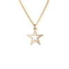 Cut Out Star Necklace in Gold