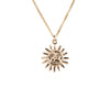 Sun Necklace in Gold