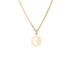 Cut Out Moon Necklace in Gold