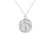 Silver Queen Bee Disc Necklace