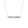 Hammered Rectangle Bar Necklace in Silver