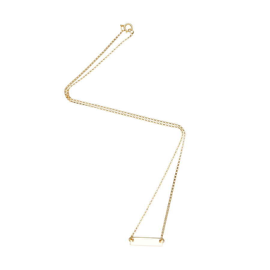 Small Rectangle Bar Necklace