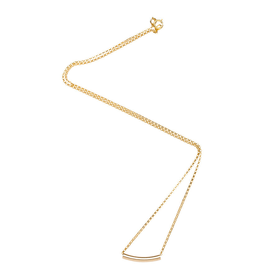 Short Tube Necklace in Gold