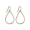 Hammered Teardrop Hoop Earrings in Gold