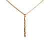 Gold Necklace with Vertical Gold Bar Pendant