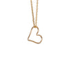 Outline Heart Necklace in Gold