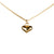 Puffed Heart Charm Necklace in Gold