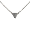 Minimalistic Triangle Necklace in Silver