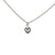 Puffed Heart Charm Necklace in Silver