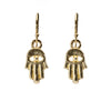 Hamsa Hand Gold Earrings