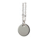 Round Disc Sterling Silver Necklace