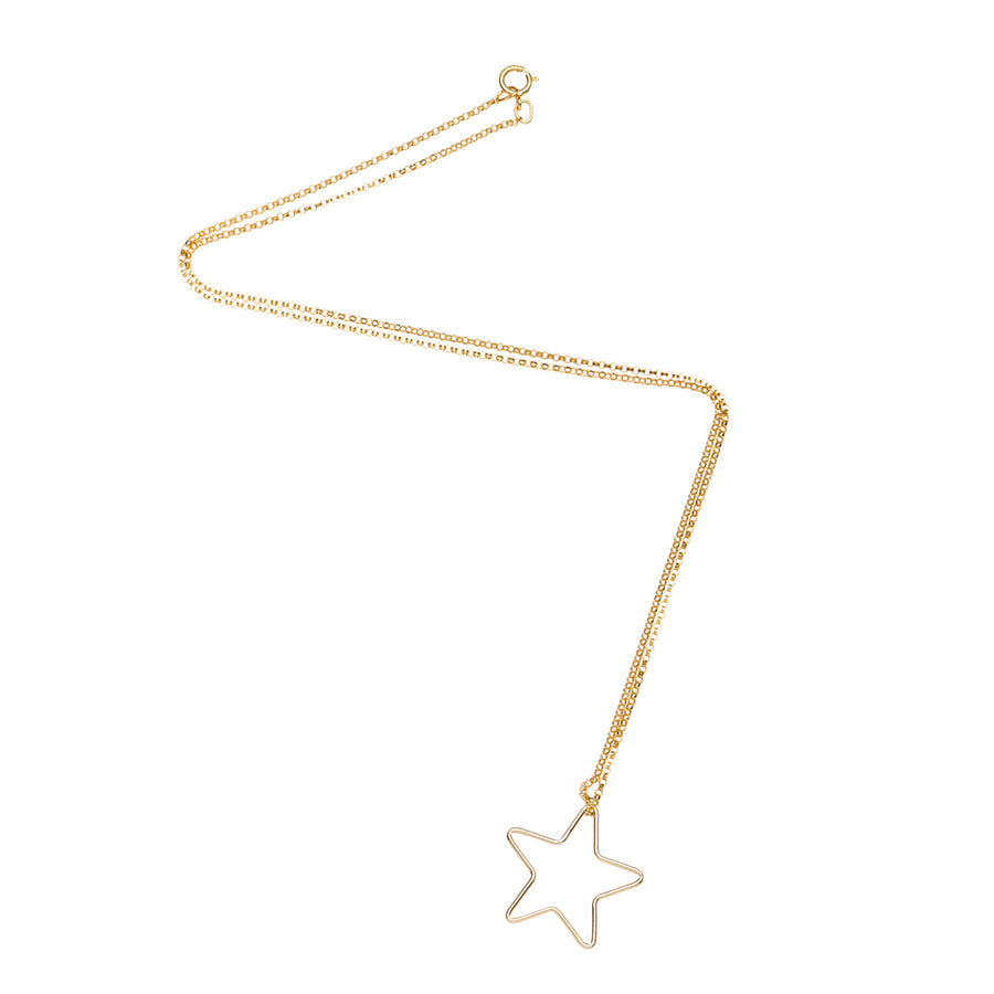 Star Outline Necklace in Gold