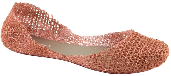 Rose Gold Jelly Flats