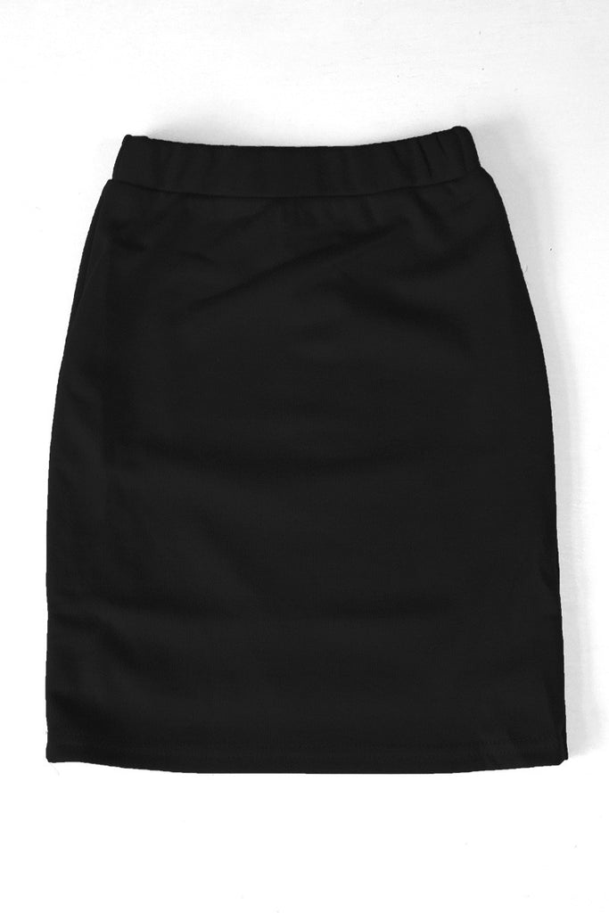 Girls Black Knit Skirt
