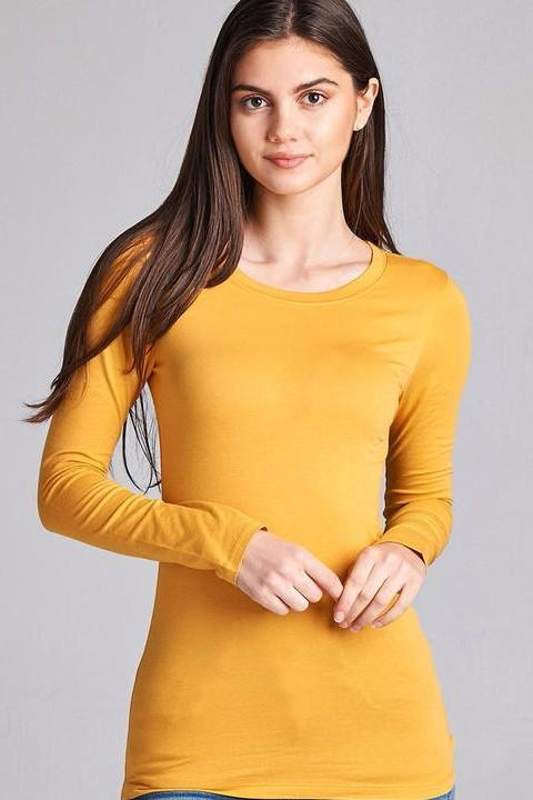 Gold Mustard Long Sleeve Tee