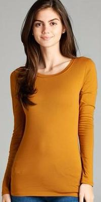 Dark Mustard Long Sleeve Tee