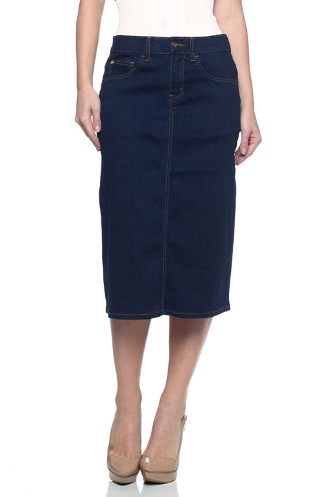 Dark Denim Skirt (Plus Size included)